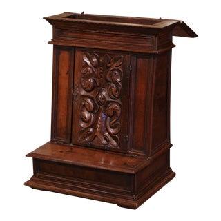 18th Century French Louis XIII Carved Walnut Prie-Dieu Prayer Kneeler For Sale