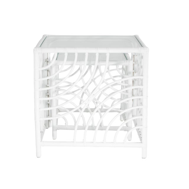 David Francis Swirl Nesting Tables - White For Sale - Image 4 of 7