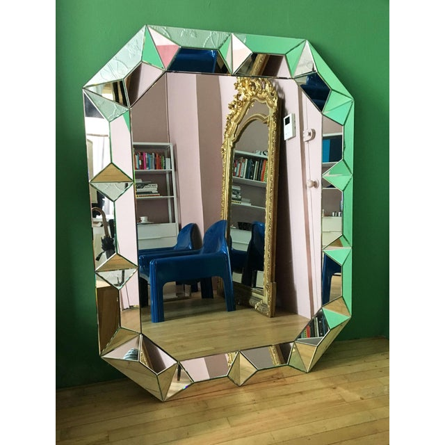 Contemporary Geometric Cut Surround Octagonal Mirror For Sale - Image 3 of 11