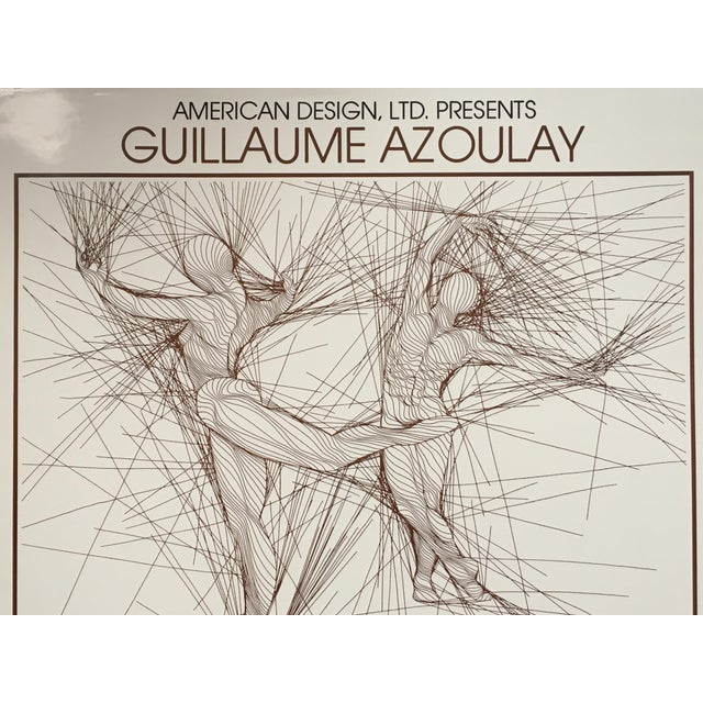 Figurative Vintage Guillaume Azoulay Gallery Exhibit Poster For Sale - Image 3 of 10