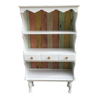 Farmhouse Shabby Chic White Cabinet