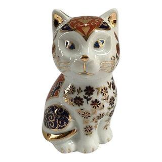 Porcelain Imari Style Cat For Sale