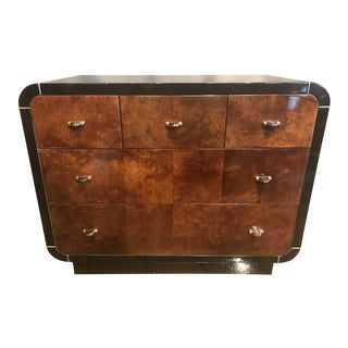 1980s Mid-Century Modern Lacquered Henredon Scene Thee Bachelors Chest For Sale
