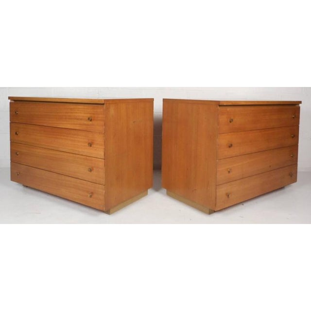 Mid-Century Modern Paul McCobb for Calvin Mid-Century Modern Chests - A Pair For Sale - Image 3 of 11