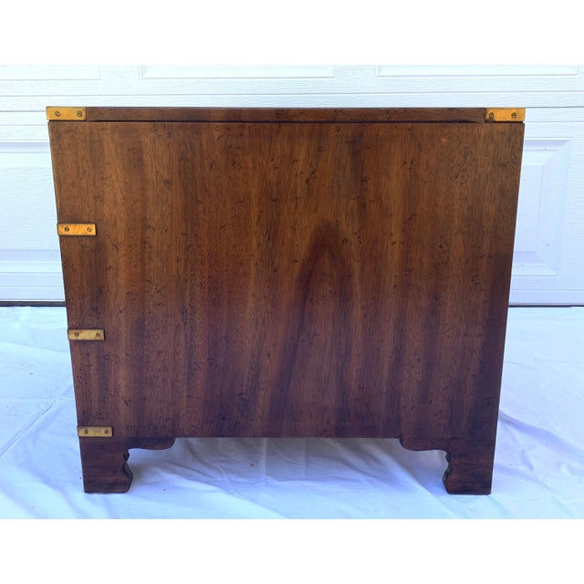 1970s Heritage Mahogany 3 Drawer Chest Side Table For Sale - Image 5 of 10