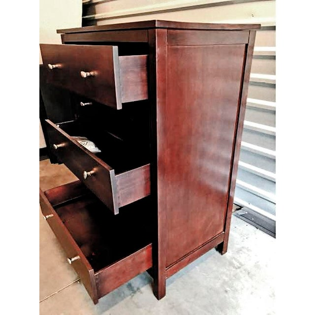 Coffee 5 Drawer Solid Radiata Wood Multi-Coat Espresso Finished Dresser From Epoch by Design For Sale - Image 8 of 13