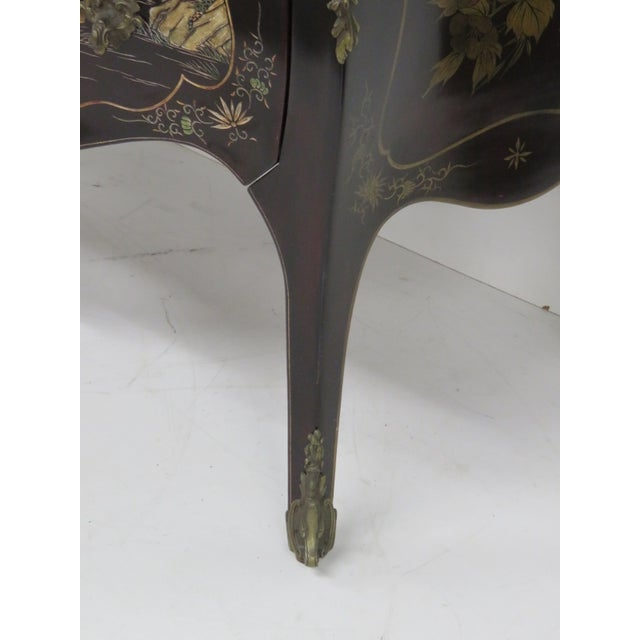 French Chinoiserie Marble Top Commode - Image 2 of 7