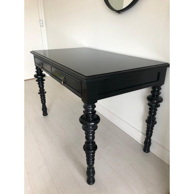 Noir Furniture Ferret Black Secretary Desk For Sale In Chicago - Image 6 of 8