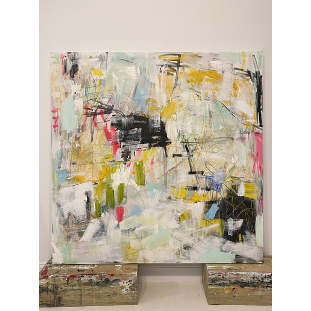 """2020s """"Get Outta Town"""" Contemporary Abstract Expressionist Mixed-Media Painting by Sarah Trundle For Sale - Image 5 of 5"""