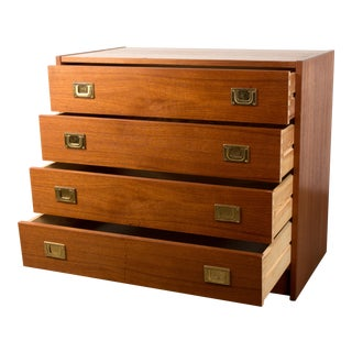 1960s Danish Teak Chest of Drawers by Henning Korch for Westergaard Møbelfabrik For Sale