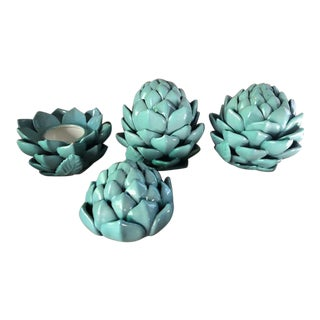 1980s Ceramic Artichoke - Set Of 3 For Sale