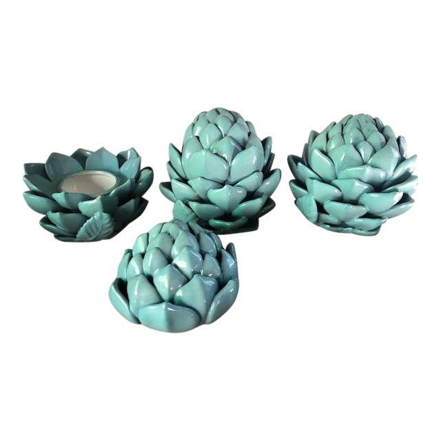 1980s Ceramic Artichoke - Set Of 3 For Sale