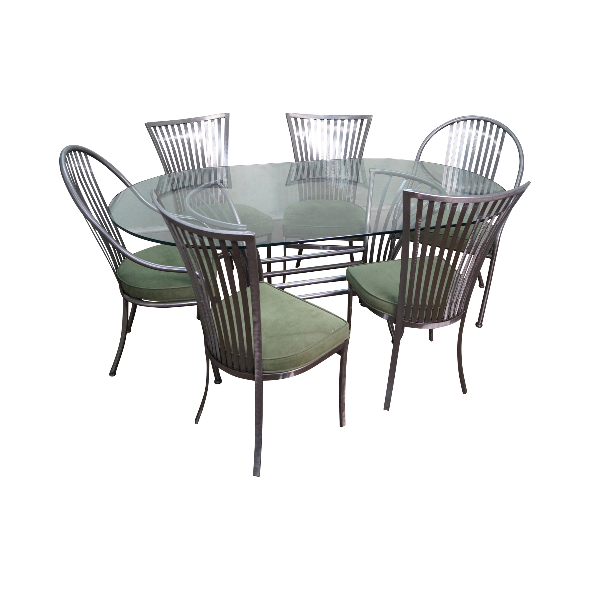 Pleasant Shaver Howard Steel Dining Set Bralicious Painted Fabric Chair Ideas Braliciousco