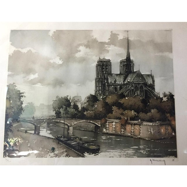 Etching of Notre Dame - Image 3 of 7