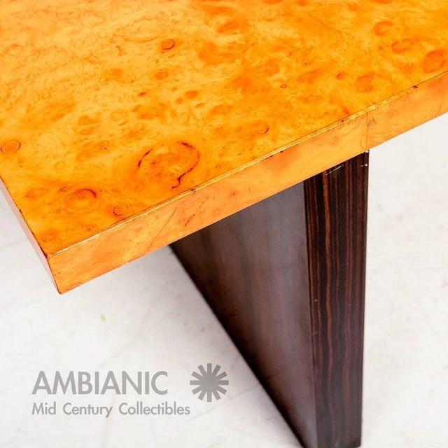 1940s Andrew Szoeke Burl & Macassar Coffee Table For Sale - Image 5 of 8