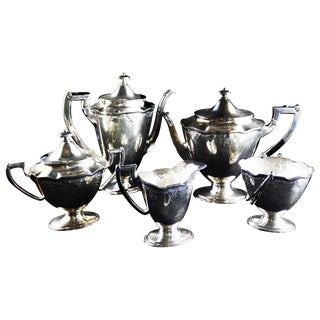 International Silver Co. Barbours English Regency Style Coffee and Tea Set - 5 Pieces For Sale