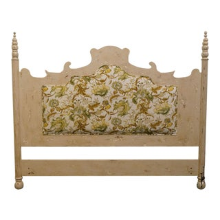 Late 20th Century Vintage Guild Master Shabby Chic King Size Headboard For Sale