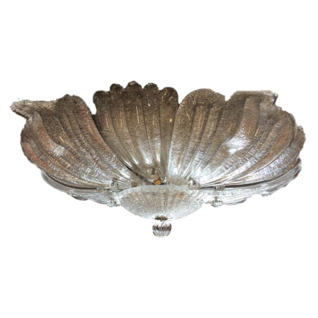 Murano Glass Ceiling Mounted Chandelier Attributed To Barovier And Toso This Beautiful Light