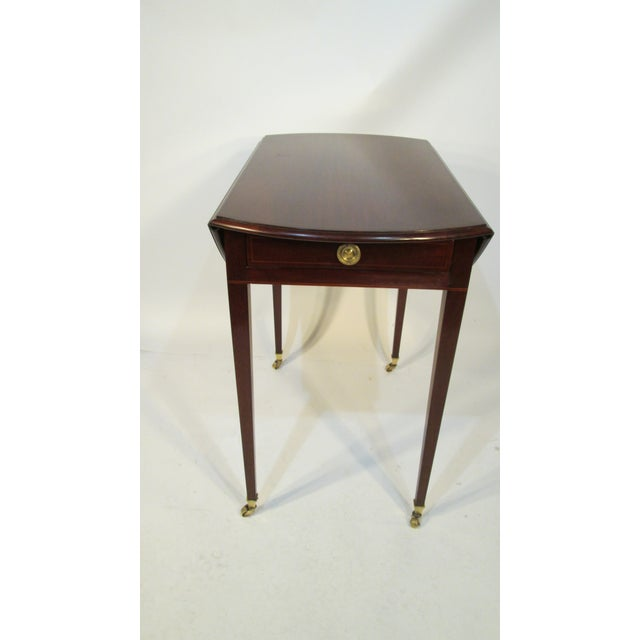 Traditional Traditional Beacon Hill Collection Pembroke Table For Sale - Image 3 of 12