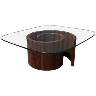 Vladimir Kagan Snail Coffee Table, Restored For Sale