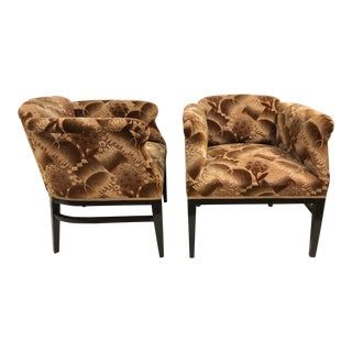 Pair 1940s Art Deco Lounge Chairs For Sale