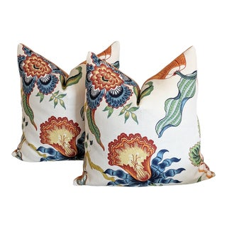 Hothouse Flowers in Spark by Schumacher Pillow Covers - a Pair For Sale