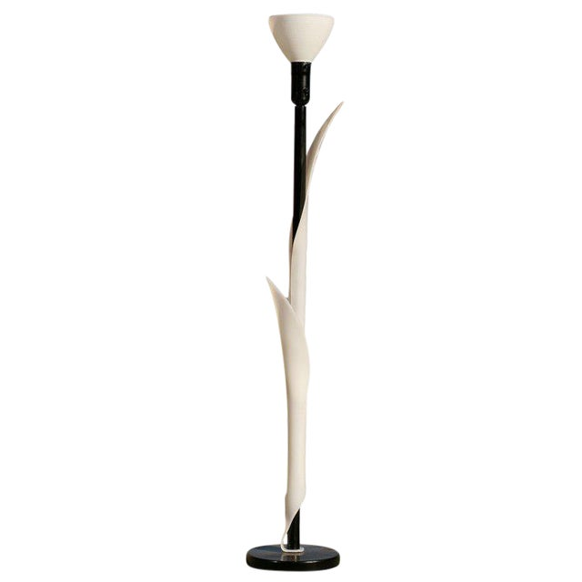 Sculptural Acrylic Floor Lamp by Rougier For Sale