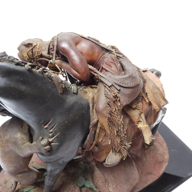 Native American Beeswax Sculpture by Francisco Vargas Sr. From Bob Hope Estate For Sale In Los Angeles - Image 6 of 10