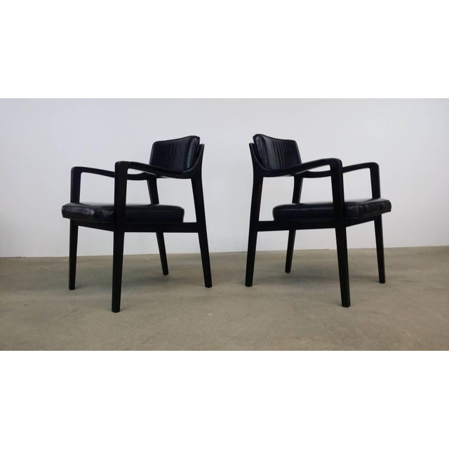 Pair of Dunbar Chairs in Black Leather For Sale - Image 10 of 10
