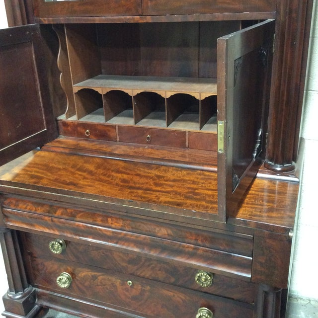 C1830 Mahogany Classical Secretary Desk For Sale - Image 4 of 9