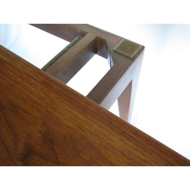Modern 1950s Mid-Century Modern Edward Wormley for Dunbar Walnut Console For Sale - Image 3 of 10