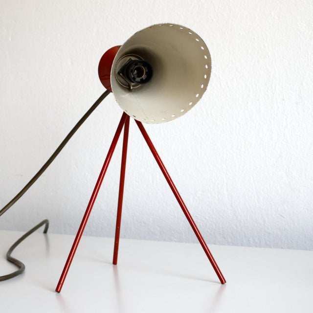 Mid 20th Century 1950s Mid-Century Model 1618 Desk Lamp by Josef Hurka for Napako, Czechoslovakia For Sale - Image 5 of 13