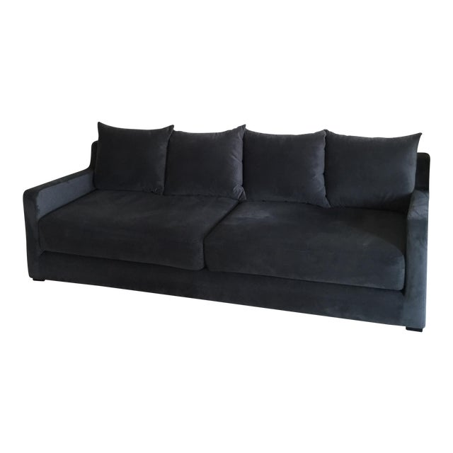 Gus* Modern Flipside Velvet Sofa For Sale
