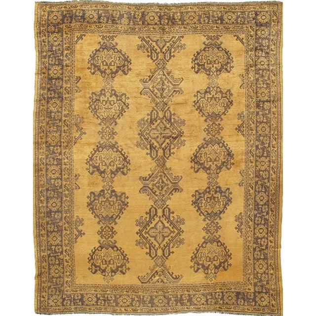 Antique Turkish Oushak Rug Carpet, 9'4 X 11' For Sale