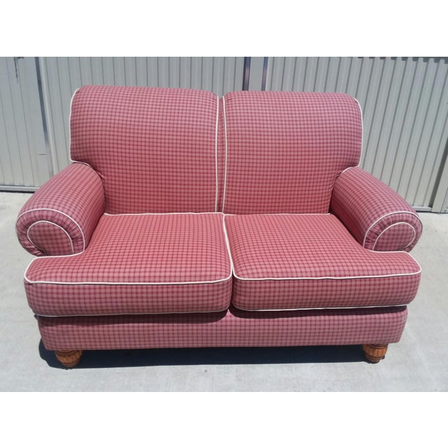 Superb Guildcraft Red And Cream Sofa Loveseat Ibusinesslaw Wood Chair Design Ideas Ibusinesslaworg