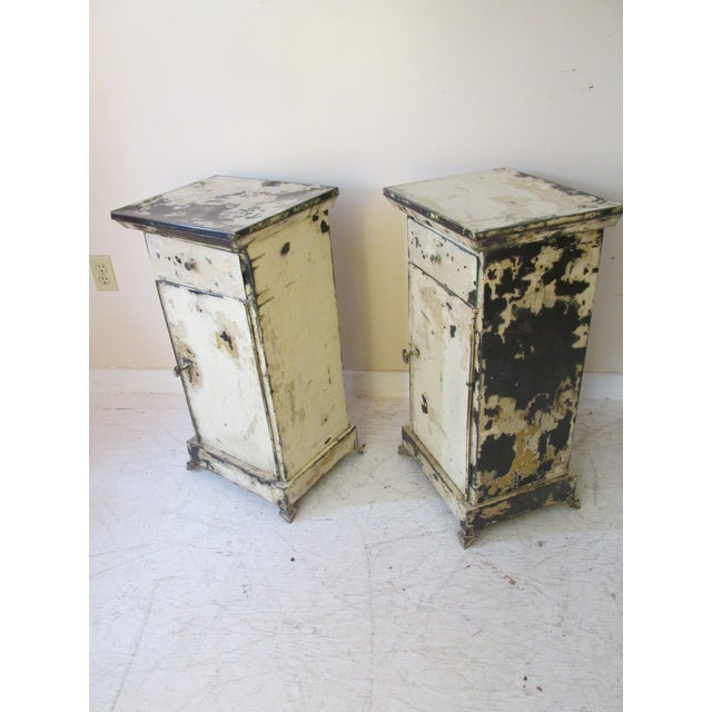 Antique French Shabby Chic Nightstands - A Pair - Image 9 of 10