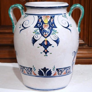 French Ceramic Hand-Painted Vase Preview