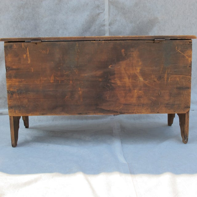 Original Red Painted Blanket Chest For Sale - Image 7 of 11
