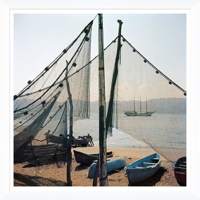 """Slim Aarons Slim Aarons, """"Fishing Boats,"""" January 1, 1952 Getty Images Gallery Framed Art Print For Sale - Image 4 of 5"""