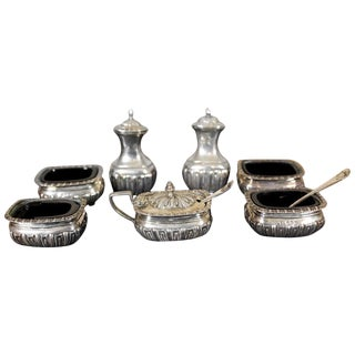 19th Century English Silver Set For Sale