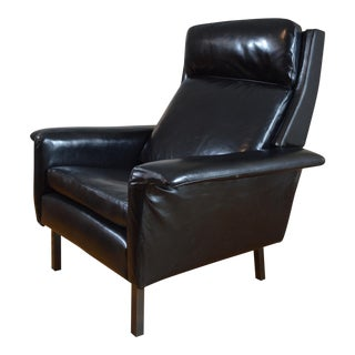 Arne Vodder for Fritz Hansen Danish Modern Leather Easy Chair