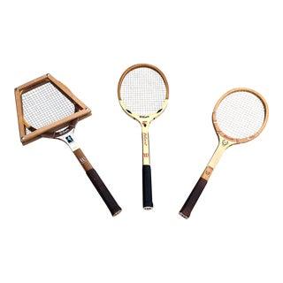 Antique Tennis Rackets - Set of 3