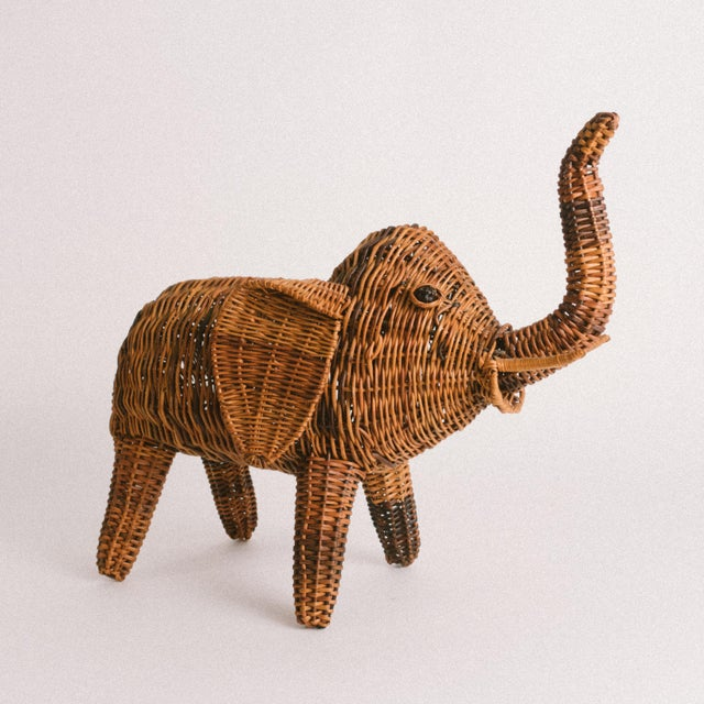 Vintage wicker elephant for the elephant collector. Does not serve any functional purpose, just an adorable decor...