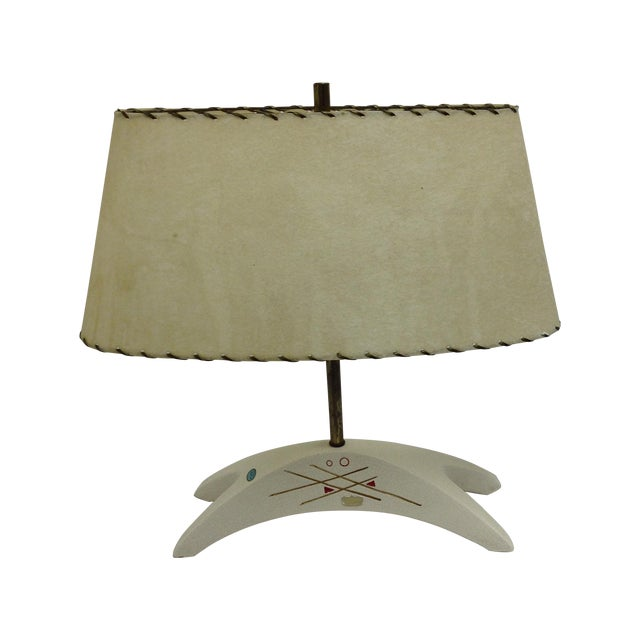 Royal Haeger Mid-Century Atomic Ceramic Lamp - Image 1 of 6