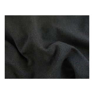 Charcoal & Black Ribbed Upholstery Fabric - 2 Yards For Sale