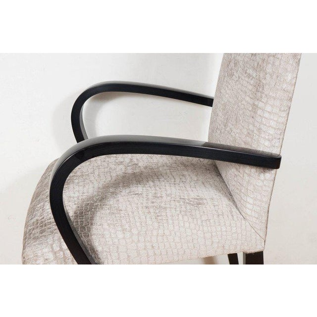 1980s Mid-Century Modernist Bentwood Occasional or Desk Chair by Dakota Jackson For Sale - Image 5 of 7
