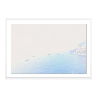Capri from Above by Natalie Obradovich in White Framed Paper, Medium Art Print For Sale