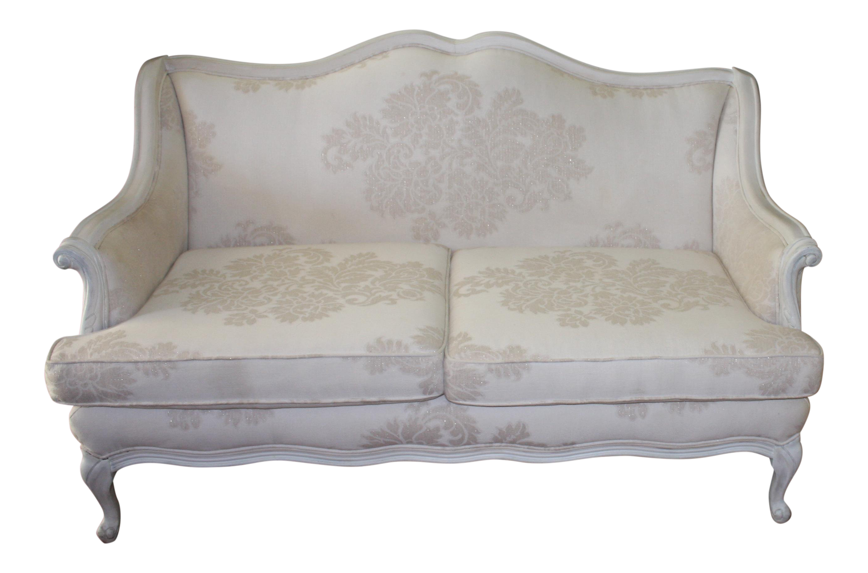 Early 20th Century Vintage French Provincial Style Settee For Sale
