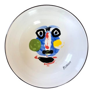 "Picasso Living Face 1963 Masterpiece Editions 13"" Bowl For Sale"