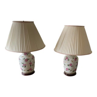1960s Asian Porcelain Table Lamps - a Pair For Sale